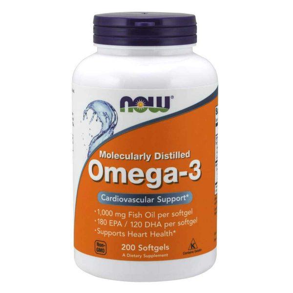 Now Omega-3, 1000 mg- 200 Softgels